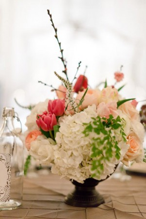 Tulip-and-Hydrangea-Centerpiece