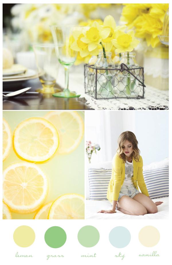 Lemon and Mint Wedding Color Palette