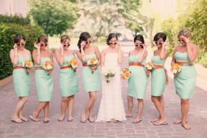 Aqua-Sunglass-Bridesmaids