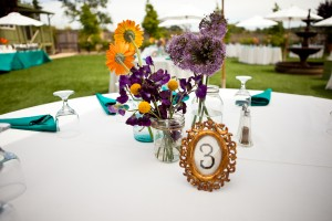 Gold-Turquoise-Purple-Orange-Tablescape
