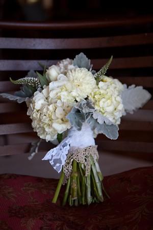 Hydrangea-Dusty-Miller-Lace-Rustic-Bouquet