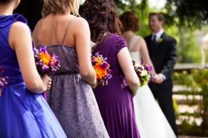Mismatched-Purple-Bridesmaids