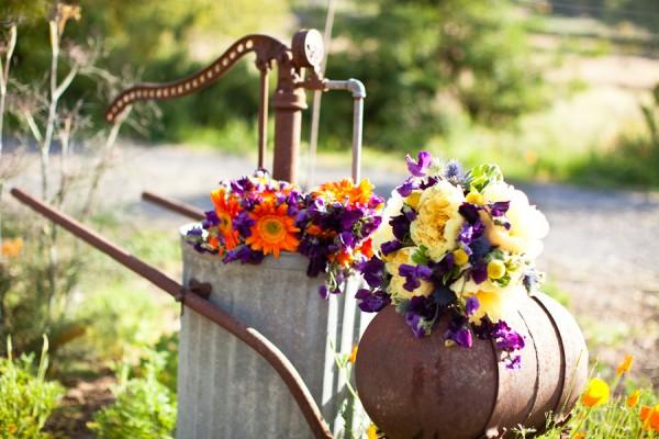 Purple-Orange-Yellow-Bouquets