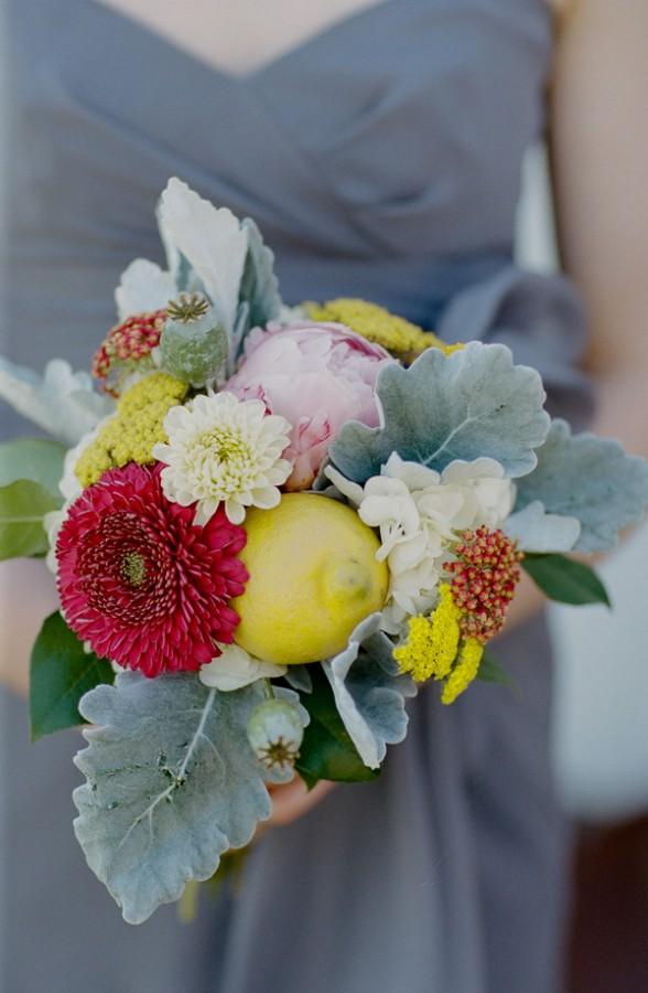 Rustic-Lemon-Dusty-Miller-Bouquet