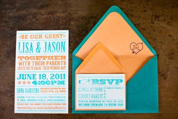 Turquoise-Melon-Wedding-Invitations