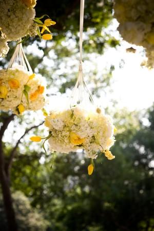 White-Yellow-Hanging-Flower-Arrangements