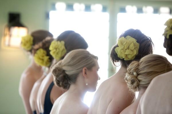 Yellow-Bridesmaids-Hair-Flowers