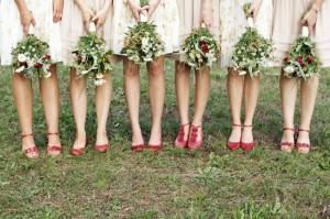 pink-red-rustic-bridesmaids-dresses