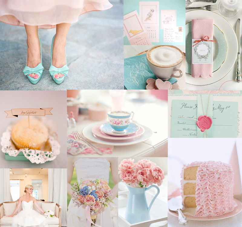 Blue And Pink Wedding Ideas: Tiffany Blue And Pink Wedding Inspiration Board