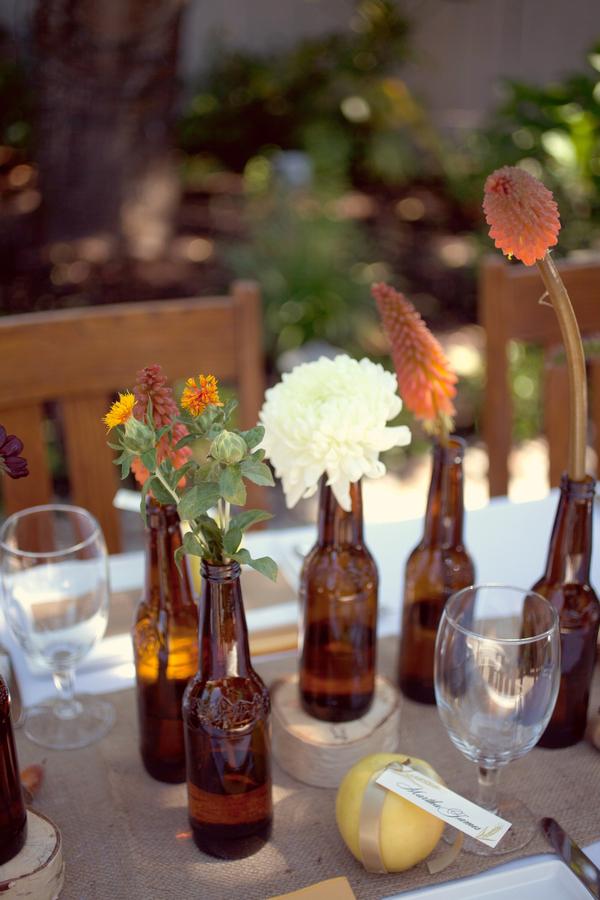 Beer Bottle Centerpiece 1 Elizabeth Anne Designs The