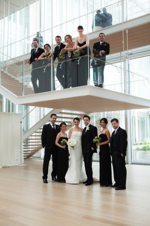 Black-and-White-Bridal-Party