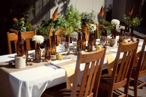 Brown-and-Yellow-Wedding-Centerpiece