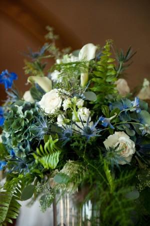 Fern-Thistle-Hydrangea-Centerpiece
