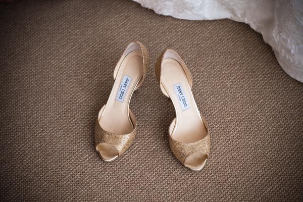 Gold-Jimmy-Choo-Wedding-Shoes