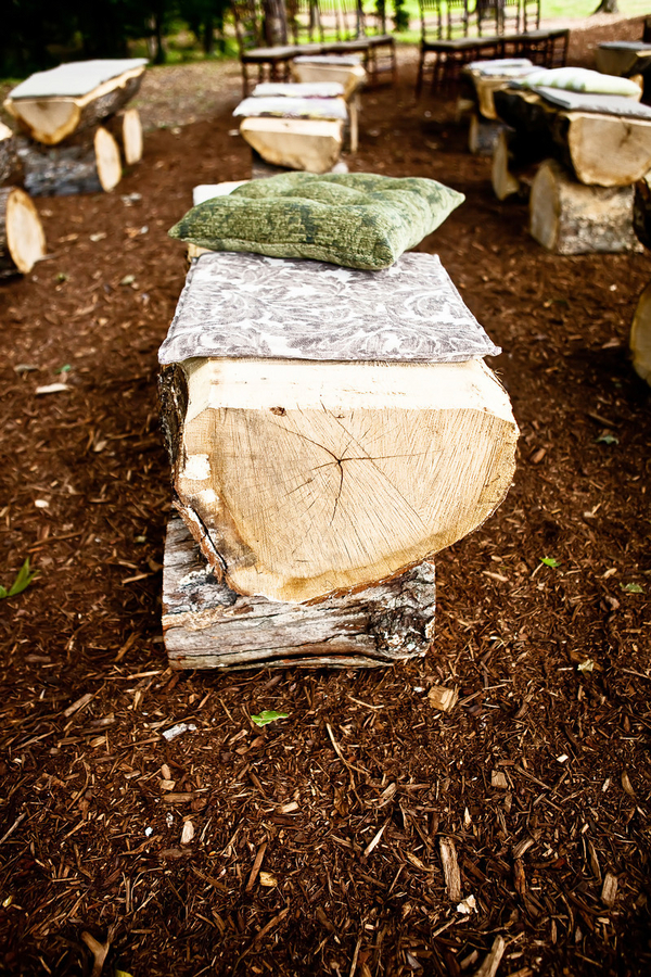 Phenomenal Log Ceremony Benches Elizabeth Anne Designs The Wedding Blog Ibusinesslaw Wood Chair Design Ideas Ibusinesslaworg