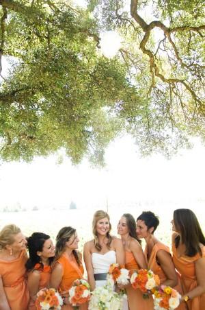 Orange-Bridesmaids