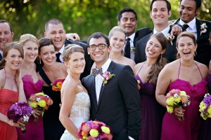 Pink-Purple-Colorful-Bridesmaids