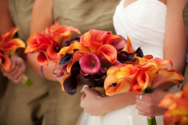 Red-Orange-Fall-Calla-Lily-Bouquets