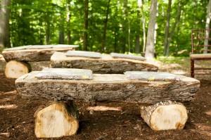 Wooden-Log-Ceremony-Pews