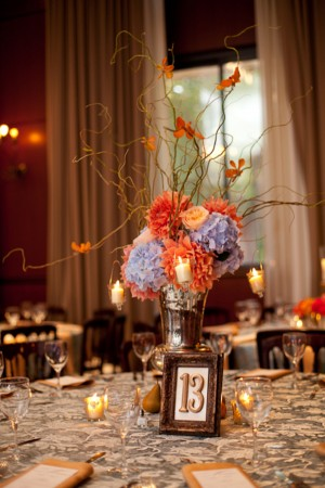 Blue-Orange-Branch-Centerpiece