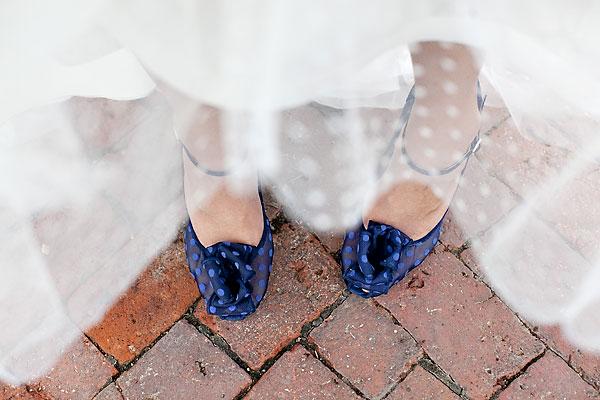 Blue-Polka-Dot-Wedding-Shoes - Elizabeth Anne Designs: The Wedding Blog