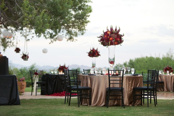 Burgundy-Champagne-Black-Wedding-Reception