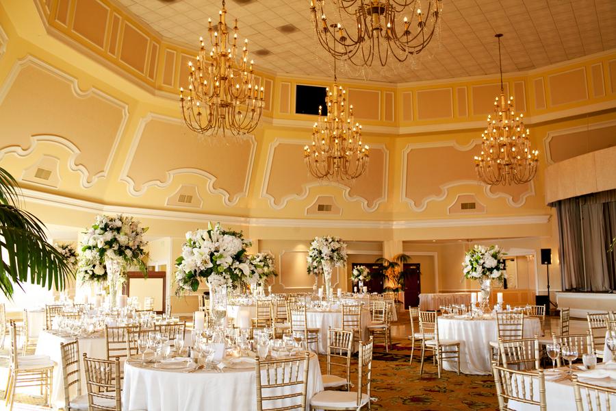 Elegant Gold White Wedding Reception Elizabeth Anne Designs The