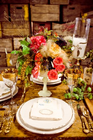Flower-and-Wheat-Centerpiece