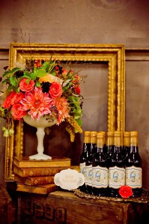 Gold-Brown-Coral-Wedding-Ideas