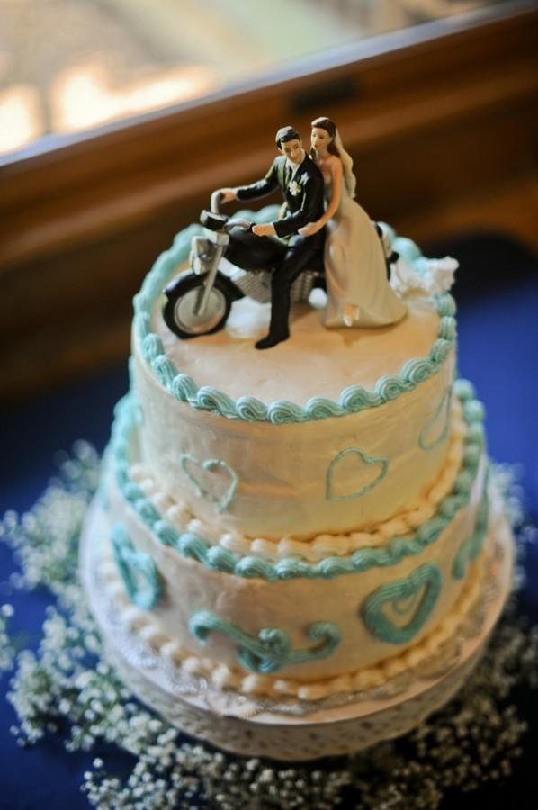 Motorcycle Wedding Cake Topper Elizabeth Anne Designs