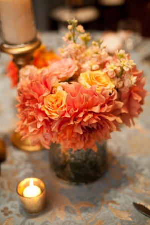 Peach-Dahlia-Centerpiece