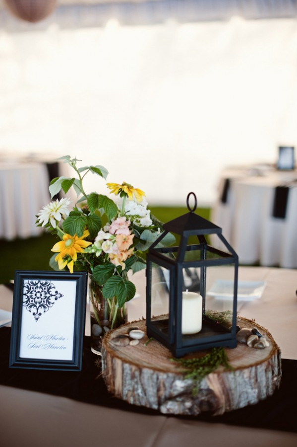 Rustic Woodsy Lantern Centerpiece Elizabeth Anne Designs The