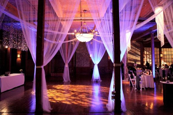 uplighting wedding reception