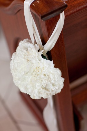White-Carnation-Pew-Decor
