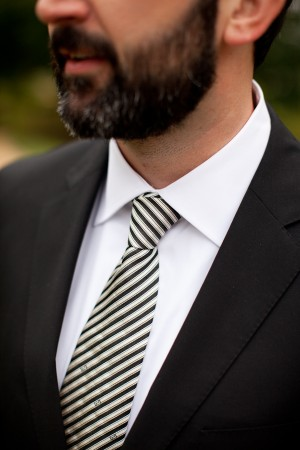 Black-and-White-Striped-Tie