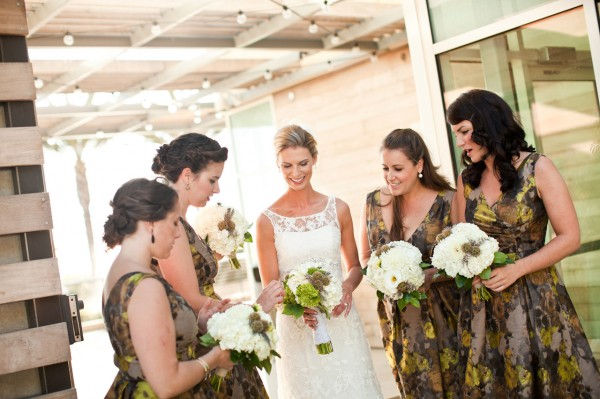 Chartreuse-Gray-Bridesmaids-Dresses