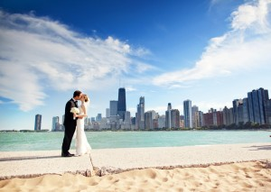 Chicago-Skyline-Bride-and-Groom