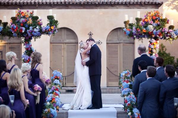 Colorful-Hydrangea-Wedding-Ceremony