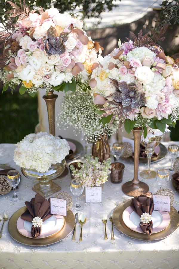 Elegant-Chic-Copper-Fall-Wedding-Tablescape
