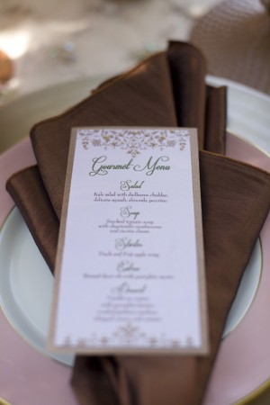 Elegant-Copper-Brown-Wedding-Menu
