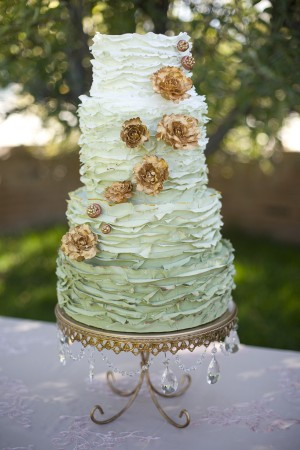 Green-Ombre-Wedding-Cake-with-Copper-Flowers
