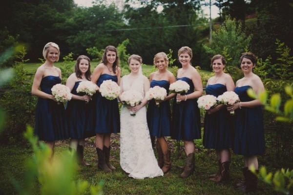 Navy-Bridesmaids-Cowboy-Boots