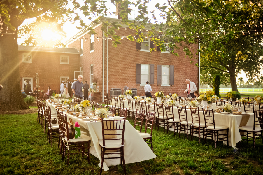 Advantages Of The Outdoor Wedding Reception: Elizabeth Anne Designs: The