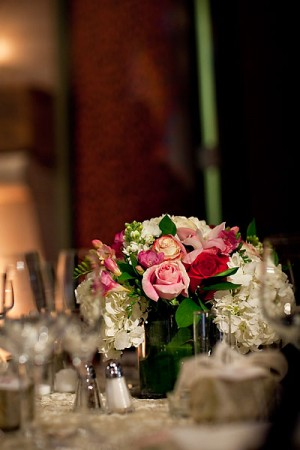 Pink-Rose-Centerpiece