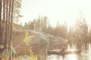 Woodsy-Bride-and-Groom-Kayak