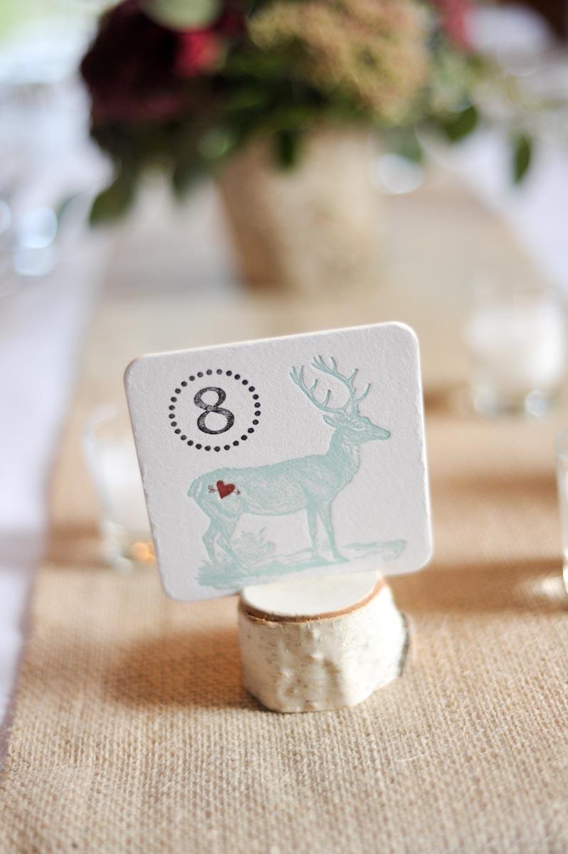 Woodsy-Rustic-Stag-Placecard - Elizabeth Anne Designs: The Wedding Blog