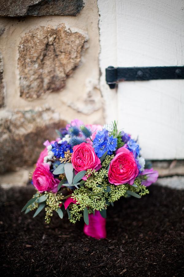 Bright pink and blue wedding bouquet elizabeth anne designs the bright pink and blue wedding bouquet mightylinksfo