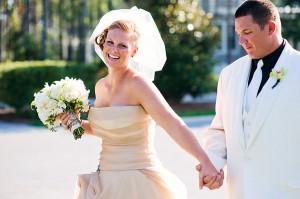 Champagne-Vera-Wang-Bridal-Gown