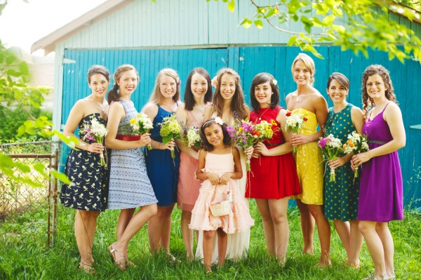 Colorful-Mismatched-Bridesmaids