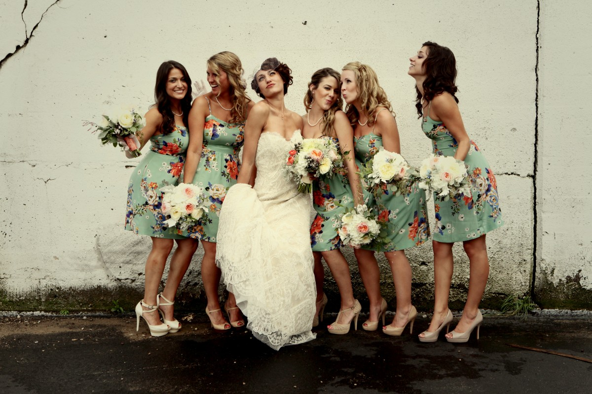 Floral bridesmaids dresses elizabeth anne designs the wedding blog ombrellifo Gallery